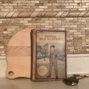 c.1872 Vintage Hardcover Book with Portrait Cover